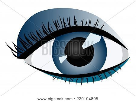 Abstract image of a human female eye - vector