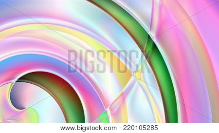 Colorful abstract prism background based on Spirals in 4K resolution.
