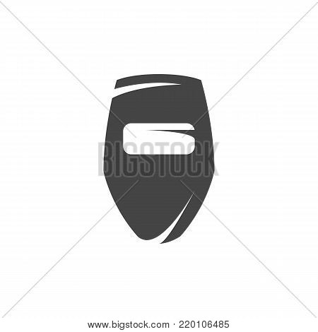 Welding mask icon. Vector logo on white background