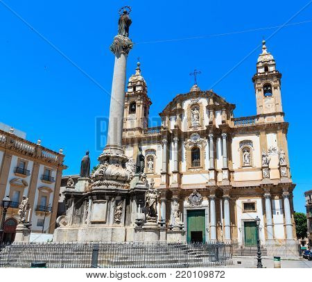 Church of Saint Dominic (Chiesa di San Domenico e Chiostro) is the second most important church of Palermo, Sicily, Italy.