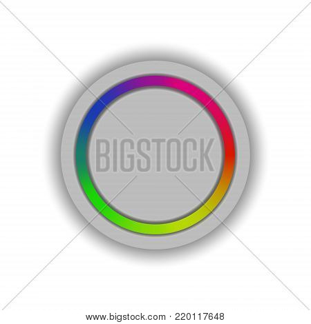 Vector image of a volume button adjusting the color scheme on a white background