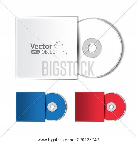 Dvd disc cover mockup and vector illustration