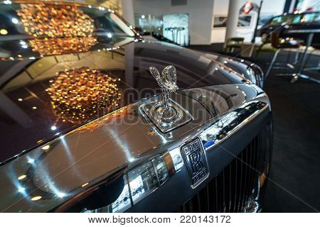 BERLIN - DECEMBER 21, 2017: Showroom. The emblem