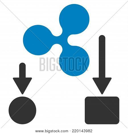 Ripple Cashflow flat vector icon. An isolated icon on a white background.