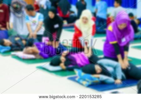 blur student education coaching massage  ( Traditional massage Thai medicine)