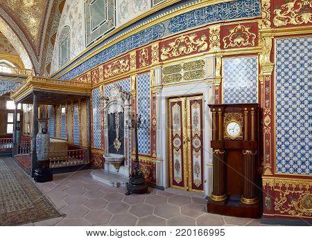 Istanbul, Turkey, July, 30, 2017:Harem in Historical Topkapi Palace