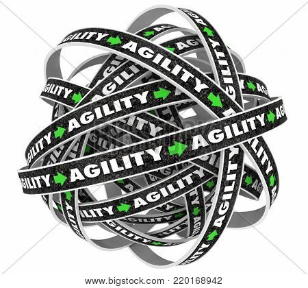 Agility Flexibile Agile Flexibility Roads Cycle 3d Illustration