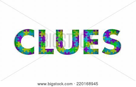 Clues Mystery Puzzle Solution Solved 3d Illustration