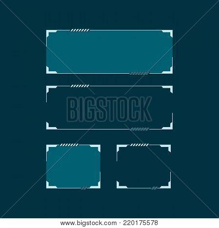 Sci Fi modern futuristic HUD user interface. Abstract techno vector illustration concept