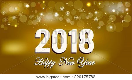 Happy New Year 2018 background decoration. Greeting card design
