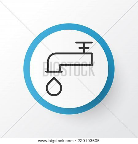 Faucet icon symbol. Premium quality isolated spigot element in trendy style.