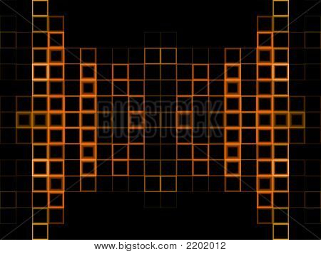 Abstract Orange Block Background
