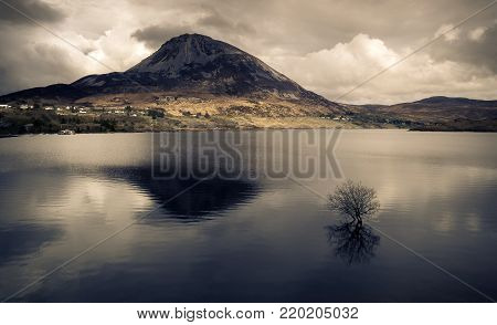 Errigal is a 751-metre (2,464 ft) mountain near Gweedore in County Donegal, Ireland. It is the tallest peak of the Derryveagh Mountains and the tallest peak in County Donegal.