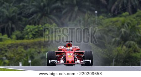 Sebastian Vettel Of The Scuderia Ferrari