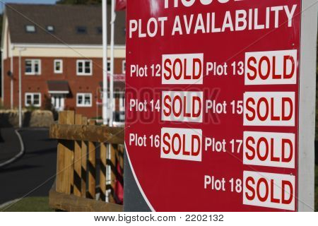Plots All Sold Sign