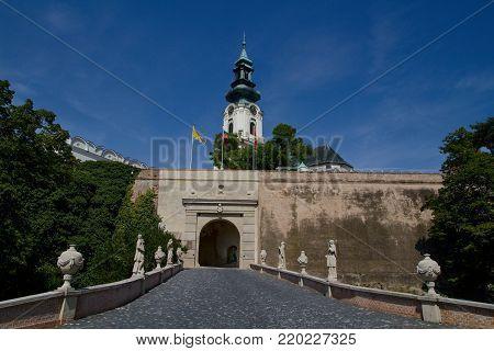 Nitra castle in Nitra, Slovak republic, Europe