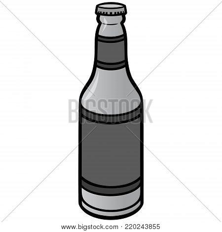 Bottle of Beer Illustration - A vector illustration of a cartoon Bottle of Beer.