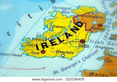 Ireland, officially Republic of Ireland (selective focus)
