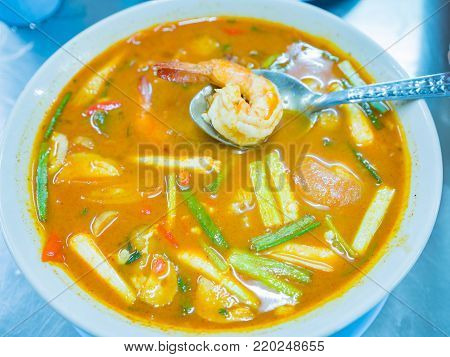 Tom Yam Kung  Or Tom Yum Goong , Worldwide Famous Thai Food Dish Cuisine