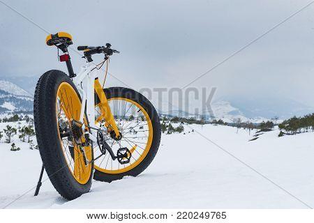 winter season cycling & fat bike & cycling winter