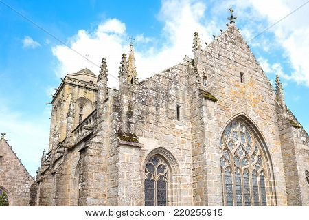 Locronan, France , upward view of the apse of the St Ronan church