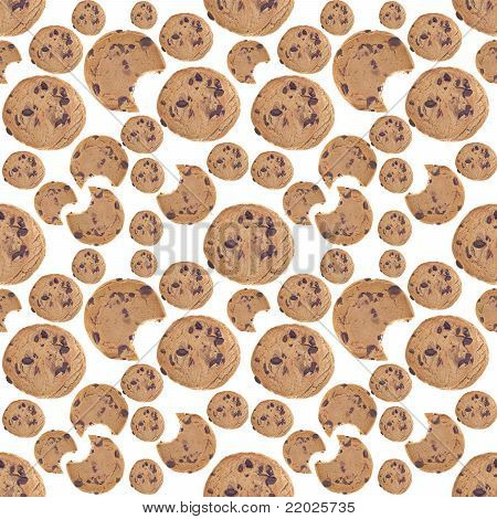 Chocolate Chip Cookie Seamless Background