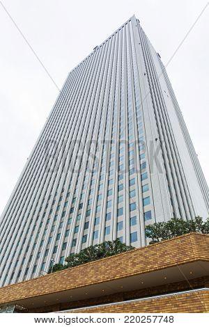 TOKYO, JAPAN - NOVEMBER 14, 2016: Architecture of Sunshine city skyscraper in Ikebukuro, Japan.  Sunshine is a 240 metre tall skyscraper in the middle of Ikebukuro district of Tokyo.