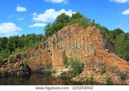 Abandoned quarry in Konigshain, eastern Germany