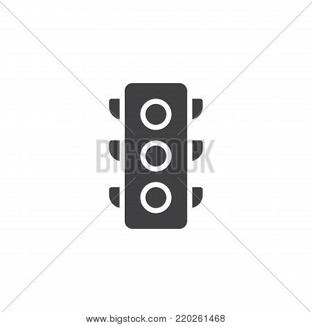 Traffic light signal icon vector, filled flat sign, solid pictogram isolated on white. Symbol, logo illustration