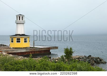 Lighthouse in Nova Scotia. Nova Scotia, Canada.