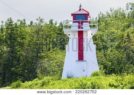Havre Boucher Range Rear Lighthouse in Nova Scotia Nova Scotia, Canada.