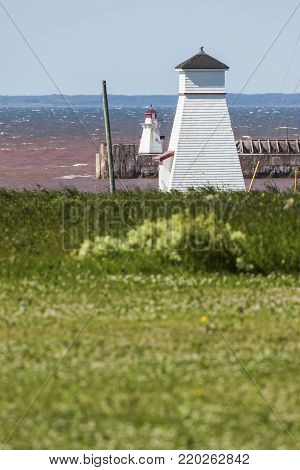 Port Borden Lighthouse on Prince Edward Island. Prince Edward Island, Canada.