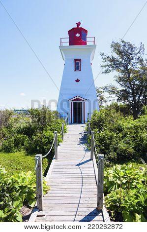 Leards Range Front Lighthouse on Prince Edward Island. Prince Edward Island, Canada.
