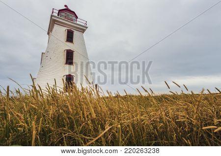 Cape Egmont Lighthouse on Prince Edward Island. Prince Edward Island, Canada.