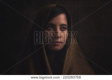 Young Arabic woman. Stylish beauty culture portrait