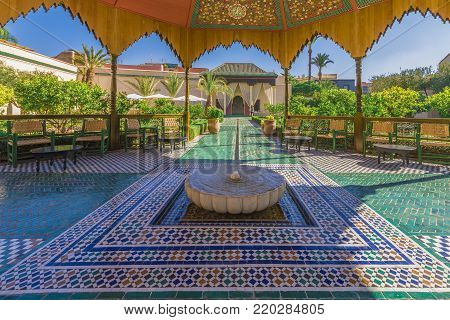 Le Jardin Secret, Marrakech, Morocco - November 13, 2017: Le Jardin Secret, old Medina, Marrakech, Morocco.