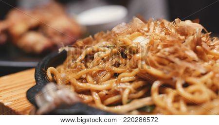 Japanese fried noodles, called yaki soba