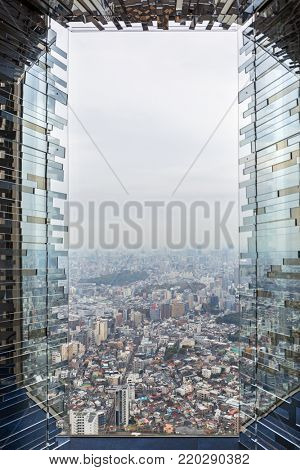 TOKYO, JAPAN - NOVEMBER 14, 2016: Aerial view for Tokyo metropolis from 60th floor of Sunshine city skyscraper, Ikebukuro, Japan. Tokyo Metropolis is both the capital and most populous city of Japan.