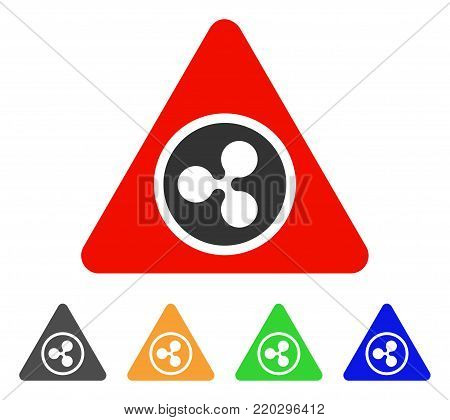Ripple Hazard icon. Vector illustration style is a flat iconic ripple hazard symbol with gray, yellow, green, blue color variants. Designed for web and software interfaces.