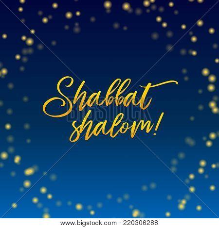 Shabbat shalom vector photo free trial bigstock shabbat shalom lettering greeting card vector illustration hebrew words shabbat shalom and blue m4hsunfo