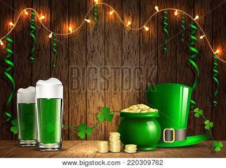 St. Patrick's Day. Greeting card with a St. Patrick's Day.