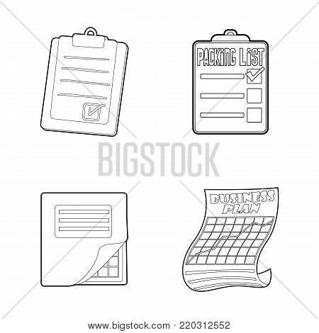 To do list icon set. Outline set of to do list vector icons for web design isolated on white background
