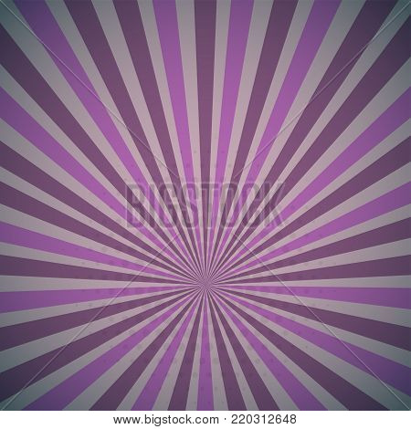 Lilac purple colored Pop-Art style blue comics book background, Lichtenstein popart. Pop art comic strip backdrop sunlight, sun ray space. Funny halftone dotted template. Vector illustration. poster