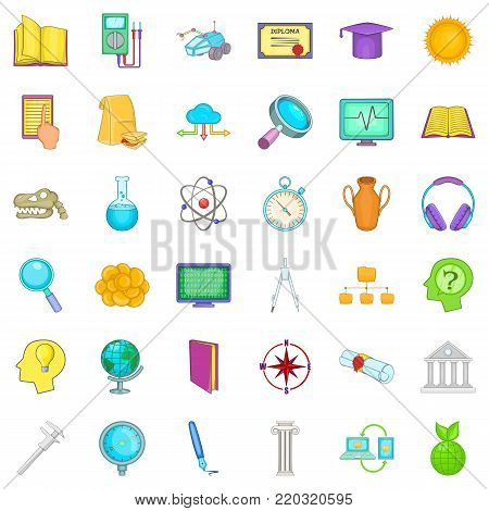 Knowledge icons set. Cartoon style of 36 knowledge vector icons for web isolated on white background
