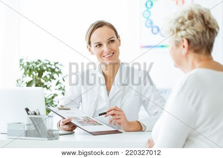 Patient During Nutrition Consultation