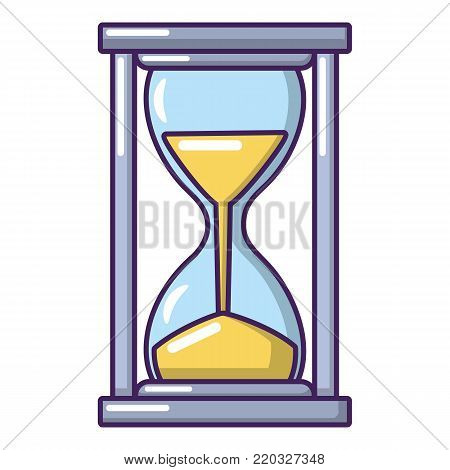 Hourglass icon. Cartoon illustration of hourglass vector icon for web.