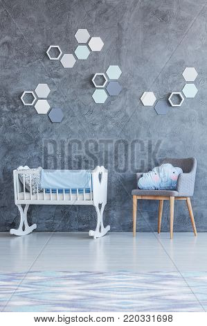 White Cradle In Kid's Room