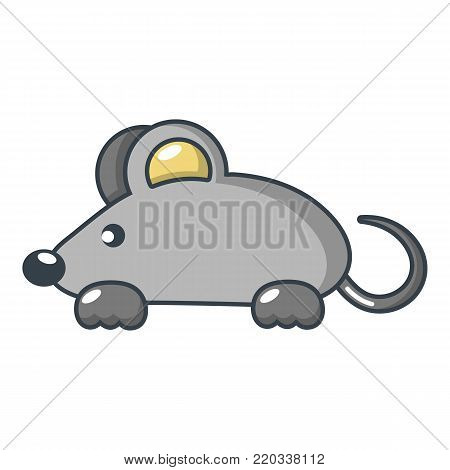 Mouse icon. Cartoon illustration of mouse vector icon for web