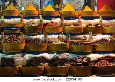 Spices on market in Egypt