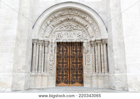 Entrance of the basilica Saint Denis in France
